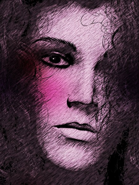 Grunge Portrait Woman 11: A sketchy, grungy closeup of a woman's face. Made from an image of a mannequin courtesy Dennis Hill. You may prefer: http://www.rgbstock.com/photo/nN715W4/Woman%27s+Face+Poster or http://www.rgbstock.com/photo/nN73XNa/Sketch+of+Woman%27s+Face