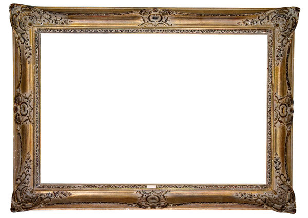 Gold Antique Frame: Invaluable as a graphic asset
