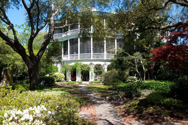 Charleston Mansion: Quite typical of the ante-bellum mansions in Charleston, South Carolina