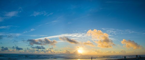 sunrise at Daytona Beach: Sunrise at Daytona Beach, panorama shot taken with long exposure