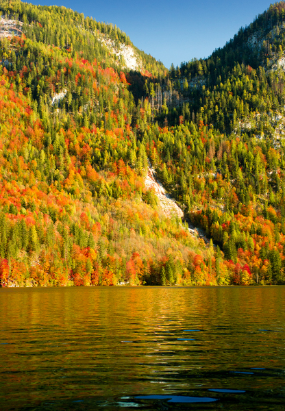 Indian Summer at Königssee: Indian Summer at Lake Königssee, Bavaria, Germany