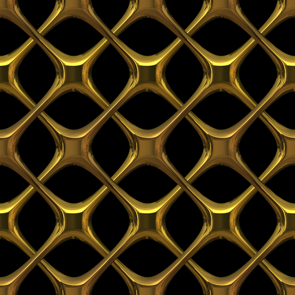 Gold Lattice: 3D gothic interlaced golden metal - could be brass or bronze. Great texture, fill or element.