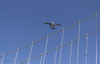 Suspension bridge and seaplane