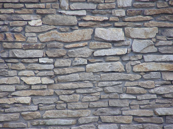 Stone wall: A wall made of stones.