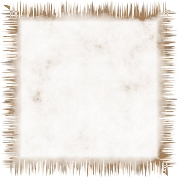 Stained Grunge Background 4: A stained white grunge background with a fringed border. Useful for paper, parchment, banners, background, texture, fill or element. Beige or sepia and white colours.