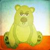 Grungy green bear