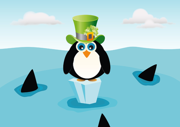 St. Patrick's Day Penguin ...: no description