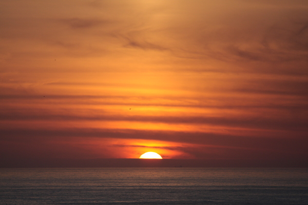 Sunset over the ocean 1: Sunset over the ocean in Coruña city
