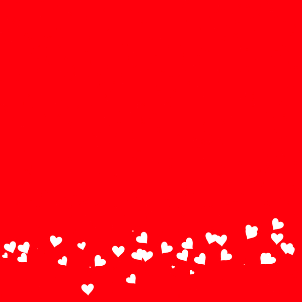 Heart Border 1 A Plain Red Background With Of Tiny White Hearts