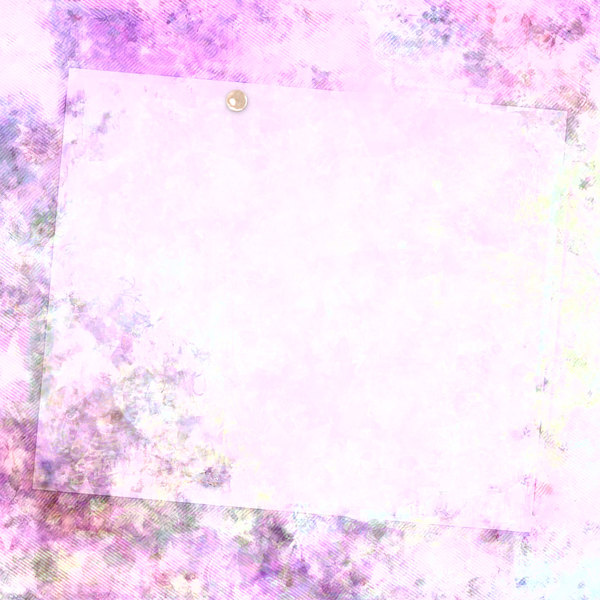 Dreamy Collage 4: A beautiful feminine abstract floral background collage, with a blank tissue page pinned with a pearl.Could be paper, texture, background, fill, card, gift wrapping, flyer, cover - anything.