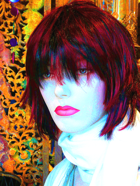 Grunge Portrait Woman 4: A portrait of a woman with a great grunge effect. Made from a public domain image of a mannequin courtesy Dennis Hill.