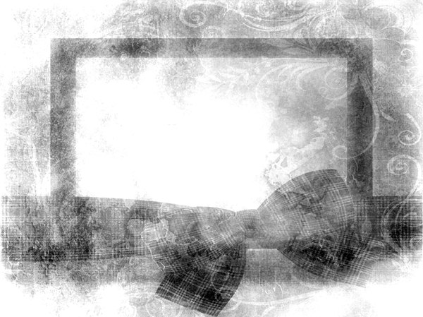 Grunge Frame With Bow 1: A really pretty grunge frame or banner with a big bow. Some public domain elements used in this image. You may prefer this: http://www.rgbstock.com/photo/nTCGQ2G/Victorian+Border