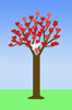Valentine tree graphic