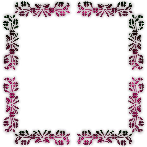 Pretty Floral Border 1: Delicate and pretty floral border or frame on a white background, with a 3d effect. You may prefer thihttp://www.rgbstock.com/photo/2dyWhYD/Scribbly+Border+3s: