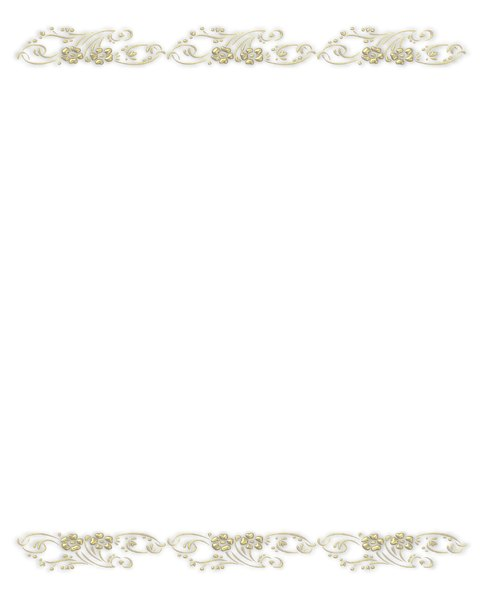 Golden Ornate Border 7: A golden ornate border or frame on a white background.