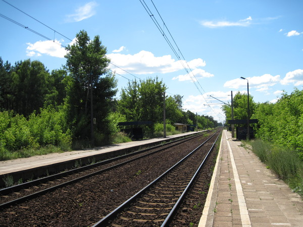 Train station: A train station in Poland.