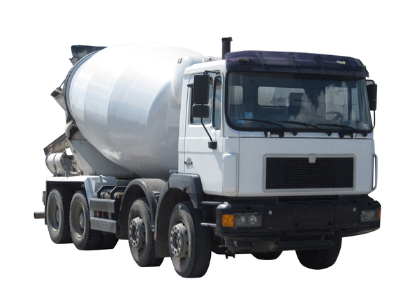 Concrete transport truck: Concrete mixer