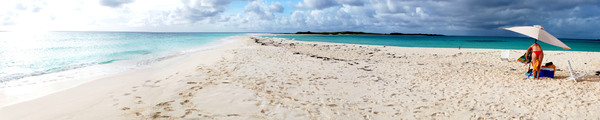 Panoramic Blue Sea 3: Blue sea at Los Roques - Venezuela - Caribe