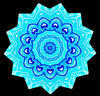blue heart mandala