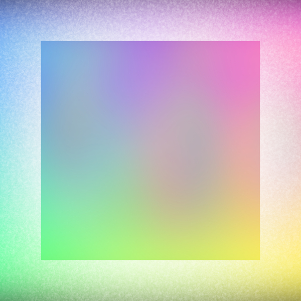 Frosty 2: A frosted background, border or frame in pastel rainbow colours.