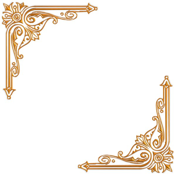 Golden Ornate Border 15: A golden ornate border or frame on a plain white background. Very elegant and old fashioned in a classic style. You may prefer this:  http://www.rgbstock.com/photo/nvi0UW8/Golden+Ornate+Border+2  or this:  http://www.rgbstock.com/photo/nL3g19U/Golden+Vine