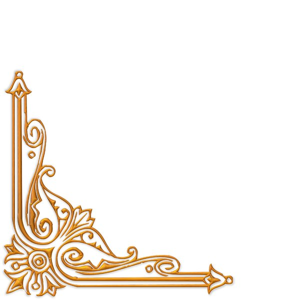 Golden Ornate Border 13: A golden ornate border or frame on a plain white  background. Very elegant and old fashioned in a classic style. You may prefer this:  http://www.rgbstock.com/photo/nvi0UW8/Golden+Ornate+Border+2  or this:  http://www.rgbstock.com/photo/nL3g19U/Golden+Vin