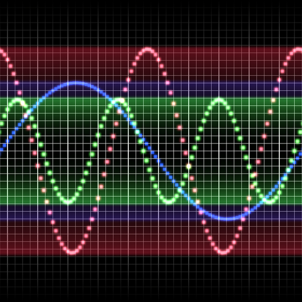 Sound Waves 1: A colourful representation of sound waves.