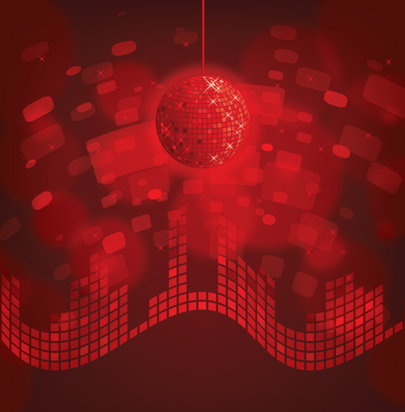 Red disco ball: Red disco ball background