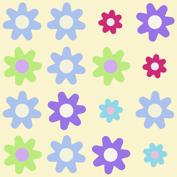 Pretty Graphic Flowers 1: A bunch of pretty graphic flowers to use for your scrapbooking or other projects, or for a special greeting or note card.
