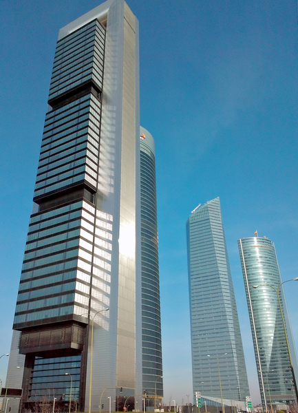CTBA Skyscrapers, Madrid: Skyscrapers of the new bussiness area in Madrid, Spain.