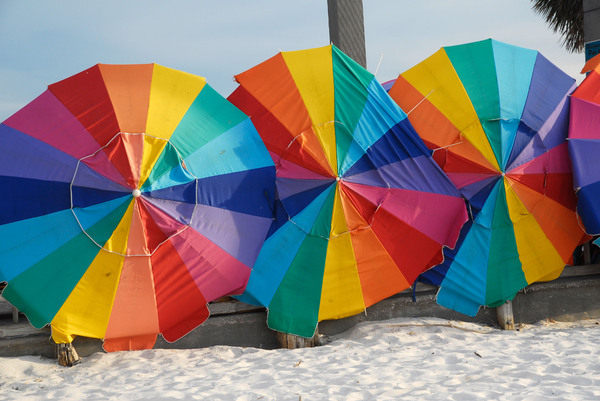Beach Umbrella: Beach umbrellas.