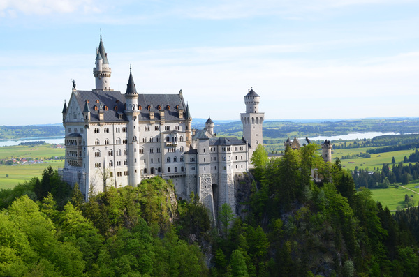 fairytale castle: castle neuschwanstein in germany,bavaria