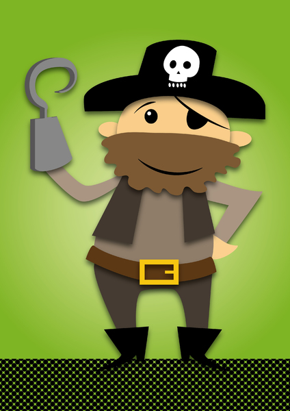 Pirate green background: no description