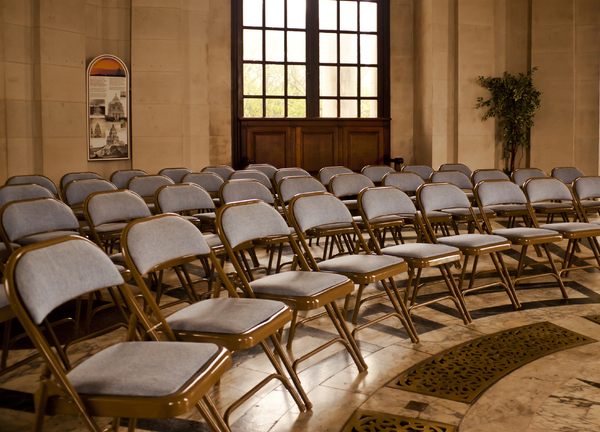 Venue: The ground floor hall of the Ashton Memorial set up for an event.