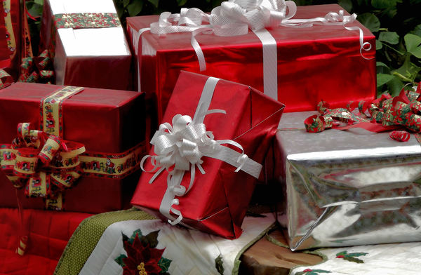 wrapped for Christmas1: boxed gifts wrapped for Christmas