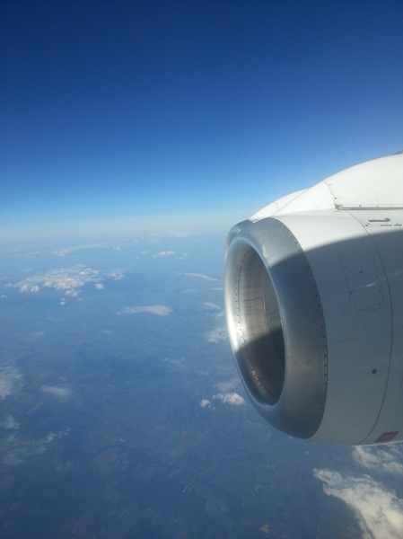 Aircraft engine: An aircraft engine in flight