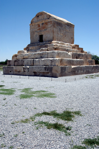 Pasargadae: Cyrus the Great Tomb in Pasargadae, Shiraz, Iran.