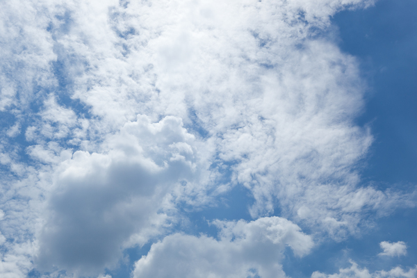 Blue & Cloudy Skies 1: Photo of blue and cloudy skies