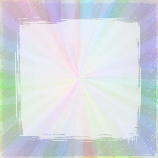 Burst Frame 6: A burst frame in muted rainbow colours and white. You may prefer this:  http://www.rgbstock.com/photo/nbLIzOw/Burst+Frame  or this:  http://www.rgbstock.com/photo/nPGDBY4/Grunge+Film+Frames+1