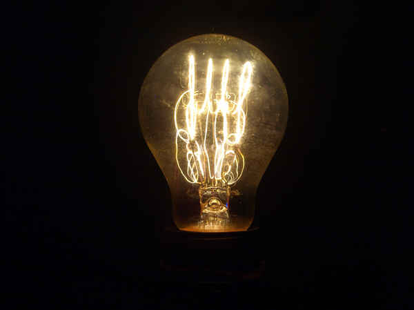 Light bulb: Light bulb, inside the light