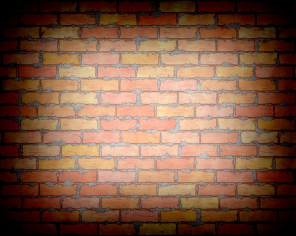 Brick Wall with Vignette 2: A very high resolution graphic brick wall with messy mortar and a vignette. Please use according to RGB image license. You may prefer this: http://www.rgbstock.com/photo/nN2ggxa/Graphic+Bricks+2 or this: http://www.rgbstock.com/photo/nL9jKIq/Graphic+Brick