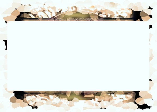 Banner With Grungy Border 2: A white banner against a grungy border. Could also be a frame.