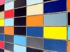 Colored tiles perspective