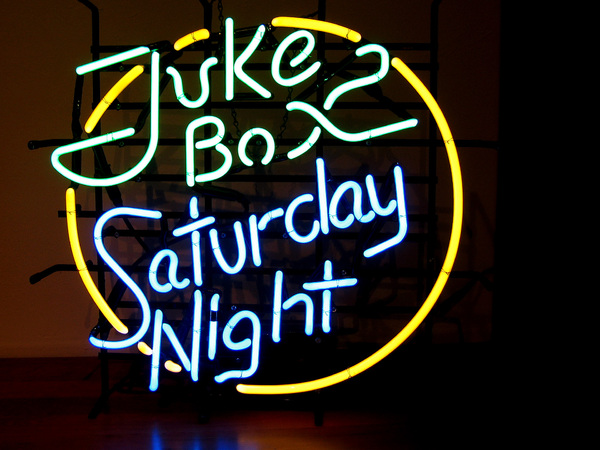 Jukebox sturday night neon: Dance neon sign