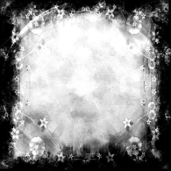 Dark Grunge Collage 1: A dark grungy floral collage background. Very atmospheric. You may prefer this:  http://www.rgbstock.com/photo/nzn1bS0/Grungy+Black+Frame  or this:  http://www.rgbstock.com/photo/dKTqAe/Scribbly+Border+2  or this:  http://www.rgbstock.com/photo/nUjafDS/Gr