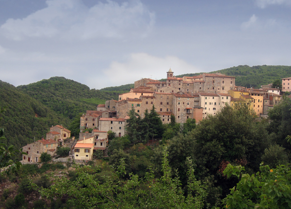 village on the hill: village of Sassetta, Tuscany, Italy