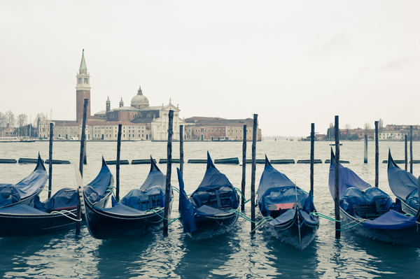 Gondolas In Venice 3: Photo of gondolas in Venice
