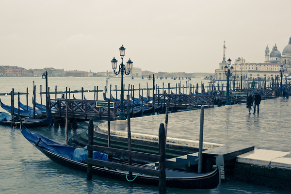Gondolas In Venice 1: Photo of gondolas in Venice