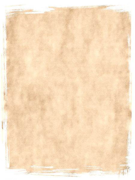 Torn Parchment 4: A grunge parchment or paper background with torn edges, in canvas colours. White background.