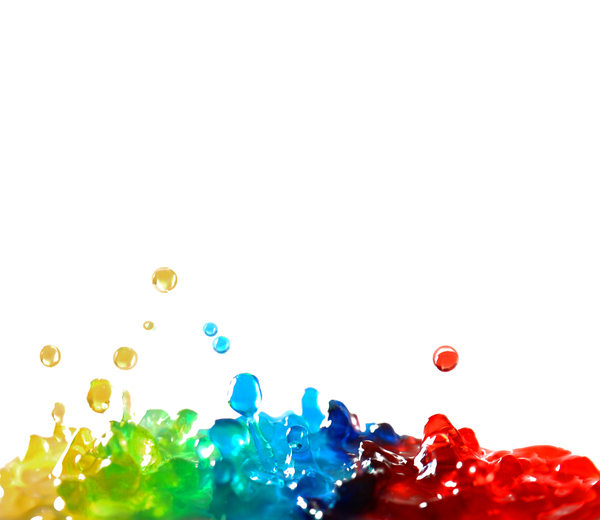 Primary Splash Background: Coloured water splashing together to add green and purple.